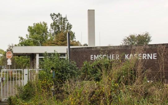 Wird vorerst nicht als Flüchtlingsunterkunft herangezogen: die Emscherkaserne in Holzwickede. (Foto: Peter Gräber)
