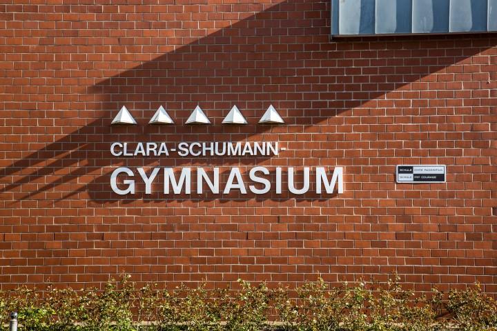Auch das Clara-Schumann-Gymnasium ist eine Schule ohne Rassismus. (Foto:; Peter Gräber)