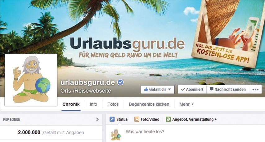Screenshot der Webseite Urlaubsguru.