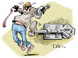 Einbruch in Schule: Stromkabel gestohlen und Wasserhahn aufgedreht