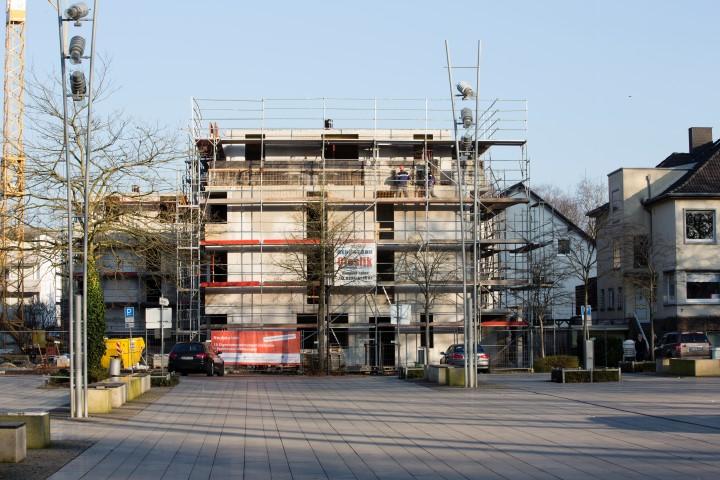 Neubau eines Wohn- und Geschäftshauses am Markt. (Foto: Peter Gräber)