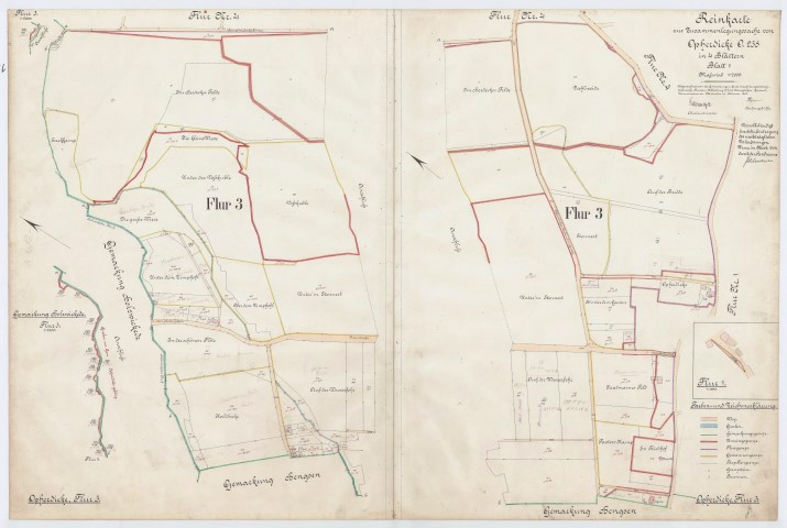 Diese und alle anderen alten Karten hat der Historische Verein jetzt im Internet öffentlich zugänglich gemacht. (Repro: Kreis Unna)