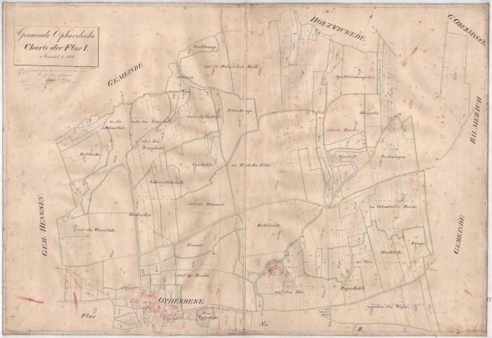 Eine der historischen Karten aus dem Jahr 1863 zeigt den Ortsteil Opherdicke.