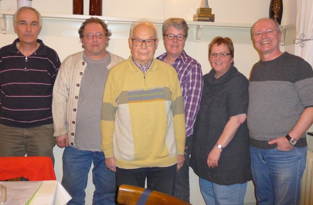 Der neue Vorstand des Historischen Vereins, v.l.: Friedrich-Wilhelm Brand, Martin Böttcher, Bernhard Schierok, Monika Blennemann, Brigitte Skupch, Andreas Heidemann. (Foto: privat)