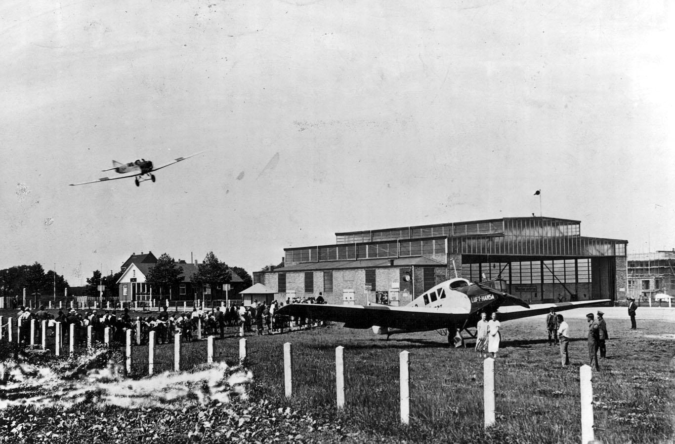 Bereits  im  Januar  1926  landen  in  Brackel  täglich  zwölf  Maschinen der neu gegründeten Deutschen Luft- hansa AG. (Foto: Archiv)