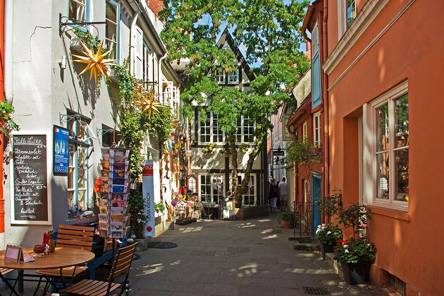 Das Schnoor-Vierteln in Bremen lohnt einen Besuch. (Foto: BRemen Tourismus)