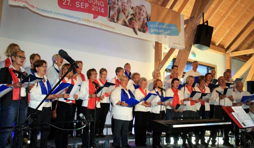 Reist am Wochenende zu einem Arbeitswochenende nach Louviers: der Chor Chantons, hier beim Day of song voriges Jahr.. (Foto: privat)
