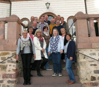 Fast die komplette Fraktion des Holzwickeder Bürgerblockls besuchte am Wichenende die Partjherstadtr Colditz. (Foto: privat)