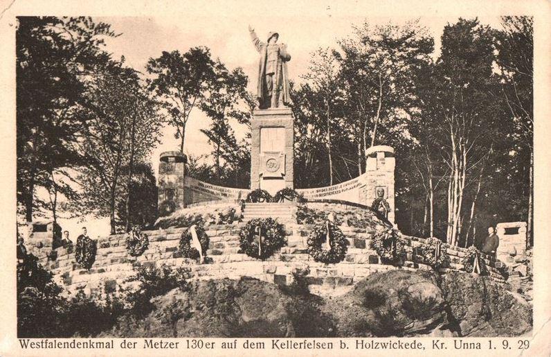 Diese alte Postkarte zeigt das Kellerkopf-Denkmal im 1920/30. (Foto: Archiv)