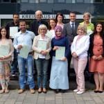 Feierstunde mit Kreisdirektor Wilk: 17 Personen eingebürgert