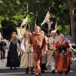 Mittelalterlichen Spektakel um Agnes von der Vierbecke vor Haus Rodenberg
