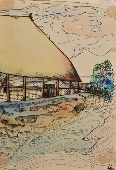 Ebenfalls in der Ausstellung zu sehen: Bauernhaus von Oskar Kurt Döbrich
