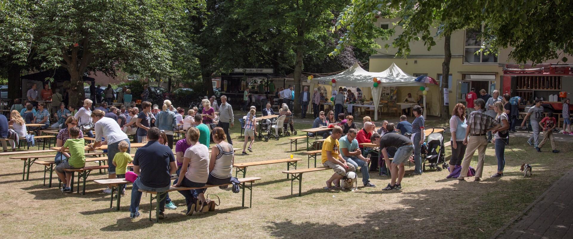 An beiden Tagen war das evangelische Gemeindefest gut besucht. (Foto: Peter Gräber)