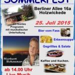 Trägerverein lädt zum Sommerfest in der Begegnungsstätte Seniorentreff