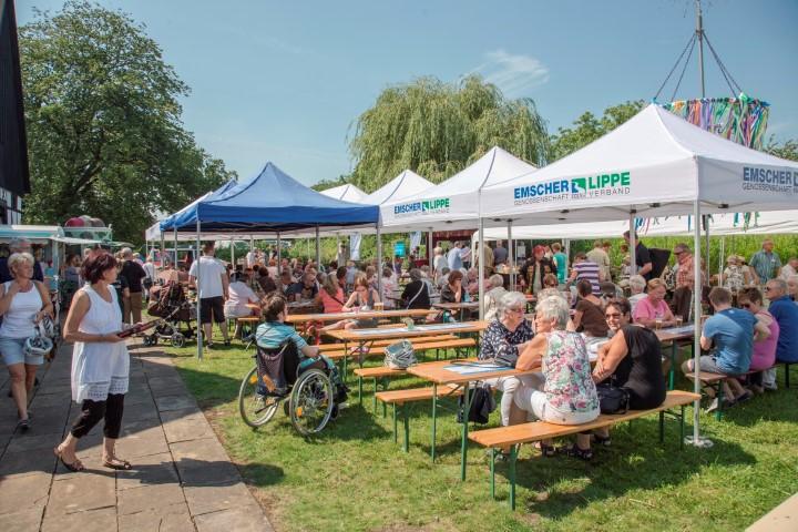 Veranstaltungen wie das Quellfest soll es auch in diesem Jahr wieder geben am Emscherquellhof. (Foto: P. Gräber - Emscherblog.de)