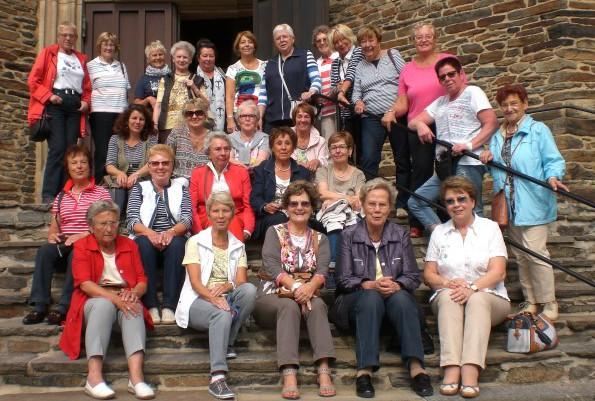 27 Frauen der FU bei ihrem Besuch in Schwarzenberg im Erzgebirge. (Foto: privat)