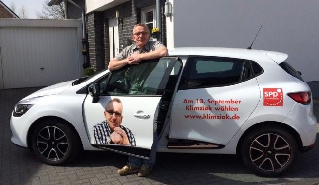 Wegen seiner Wahlwerbung in der Kritik: Bürgermeisterkandidat Michael Klimziak. (Foto: SPD)