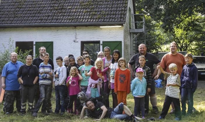 Das Jugendrotktreuz verbrachte das letzte Ferienwochenen de mit einer Kindxerguppr im Biwak min der Grülmannsheide. (Foto: privat)
