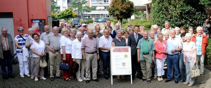 Die Teilnehmer des Tagesausfluges des Trägervereins der Senioren-Begegnungsstätte. Foto: privat)