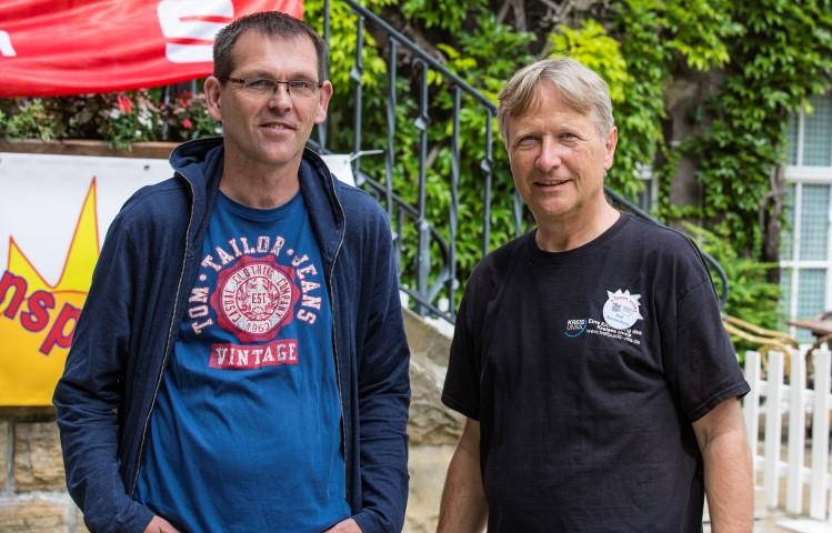 Laden ab wieder zum besewuc h der Villla ein: Leiter Klaus Neumann und Ralf Sonnenberg.  (Foto: Peter Gräber / Enmscherblog.de) (r.)