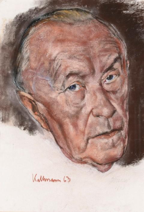 Hans Jürgen Kallmann - Konrad Adenauer.(Foto: Kreis Unna)