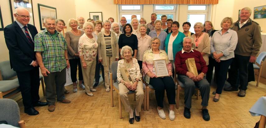 Älteste Besucher waren Johanna Wachenberg (92 Jahre) und Erwin Kretzberg (91 Jahre)