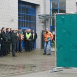 Mobile Sichtschutzwände gegen Gaffer  im Feuerwehrzentrum vorgestellt
