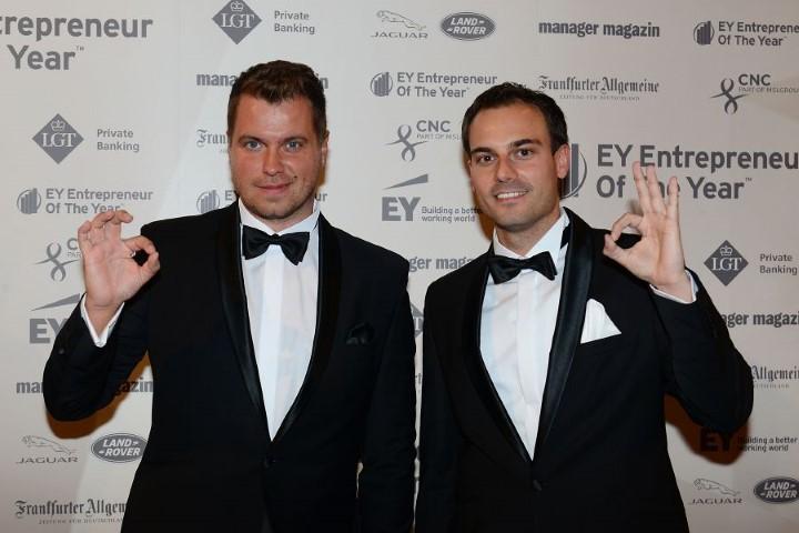 UNIQ Gründer Daniel Krahn und Daniel Marx, inzwischen sind sie erfolgreich im Rennen um den Entrepreneur of the Year Awards in Berlin. (Foto: UNIQ)