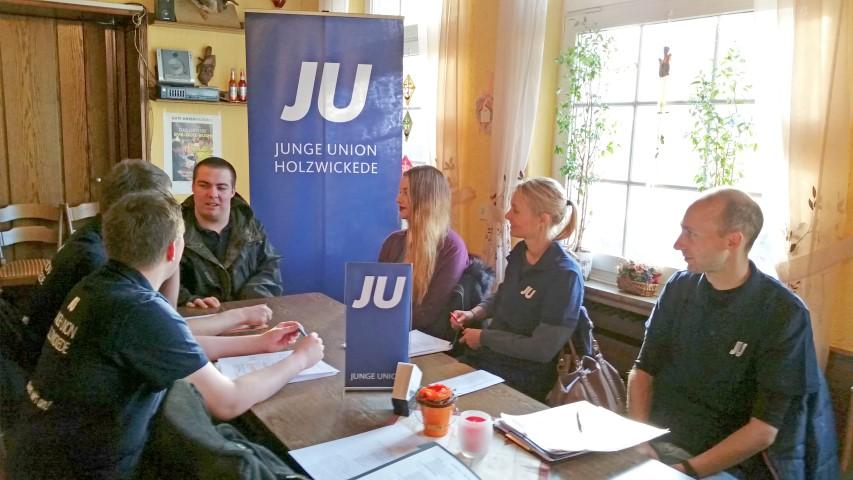 Die Mitglieder der Jungen Union bei ihrem programmatischen Treffen. (Foto: JU)