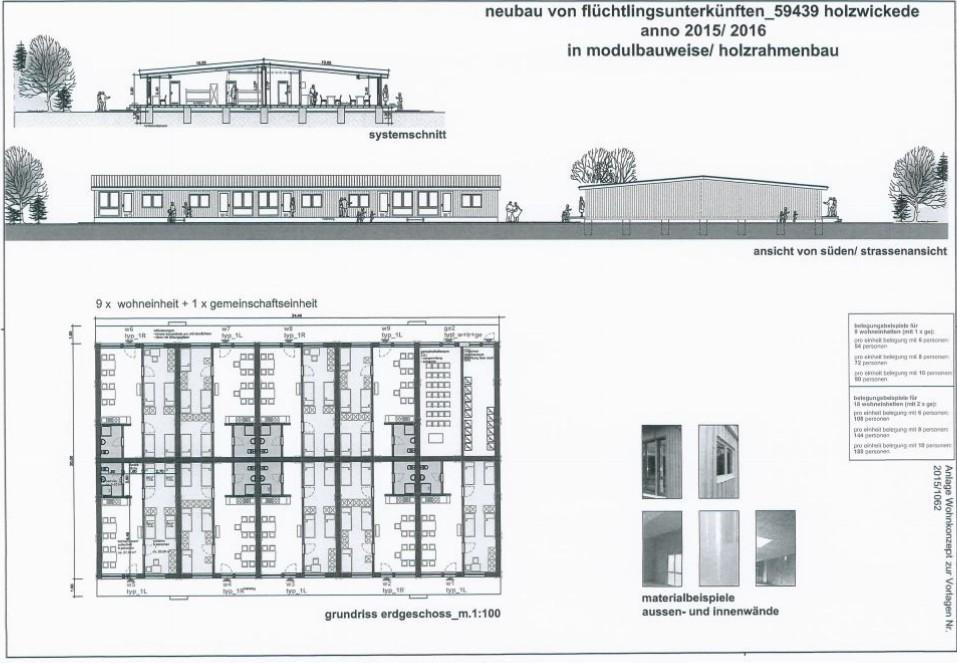 Plan2 Flüchtlingsunterkunft Modulbauten
