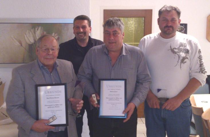 Auf dem Foto von links: K.-H. Krause, Frank Griese, Martin Jauer, Stefan Borghardt