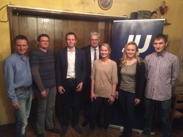 Von links nach rechts: Frank Markowski, Jan Schüttfort, Pascal Schoppol, Hubert Hüppe, Ann-Kathrin Köller, Isabel Drescher, René Winkler