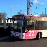 Flughafenbus wird für sechs Stunden am Tag zur neuen Buslinie Eco Port