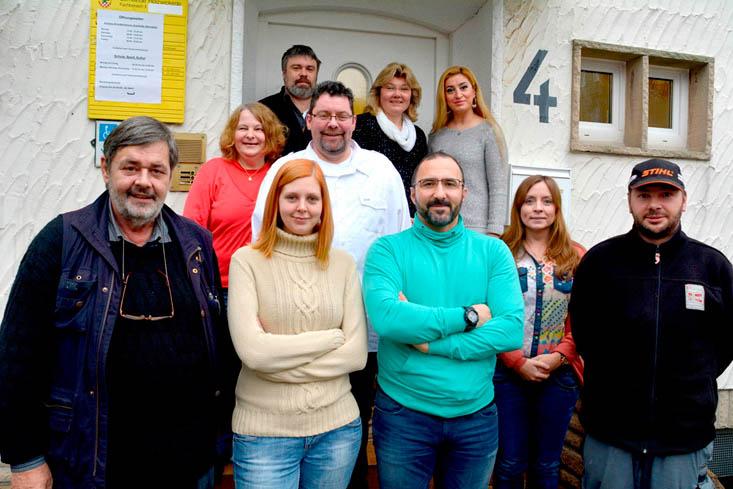 Das Mitarbeiterteam um die vier neuen Sozialarbeiter künmmert sich um die Flüchtlinge in der Gemeinde. (Foto: Gemeinde Holzwickede)