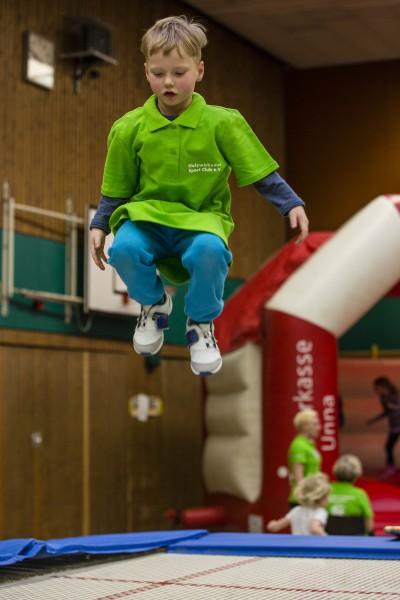Spaß und Lust an der Bewegung standen beim 19. Spielfest des HSC in der Hilgenbaumhalle im Mittelpunkt. (Foto: Peter nGräber)