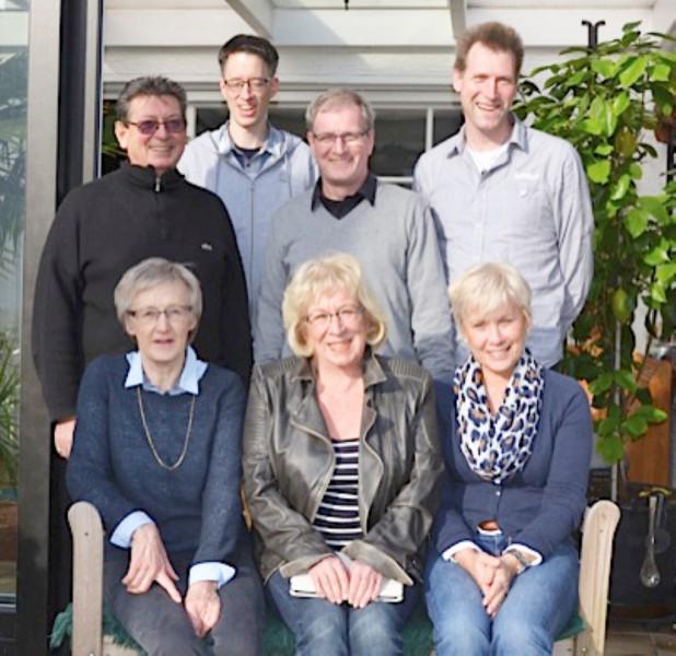 Der Vorstand der Radsportabteilung des HSC: (vorn von links) Gisela Tubes, Hanne Schön und Heike Kohl, (hinten von links) Heinz Schön, Hendrik Tubes, Dieter Rux und Norbert Tolksdorf