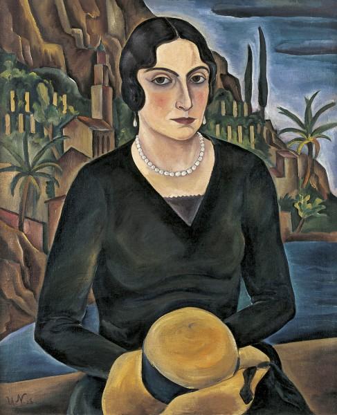 Ulrich Neujahr: Tatjana Magid-Riester, 1928, Öl auf Leinwand, Sammlung Brabant