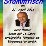 Alt-Bürgermeister Jenz Rother zu Gast am Stammtisch im Seniorentreff