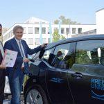 Kreis Unna stellt erstes Elektrofahrzeug in den Dienst