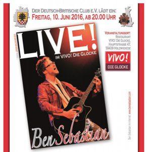 Deutsch-Britischer Club präsentiert Ben Sebastian
