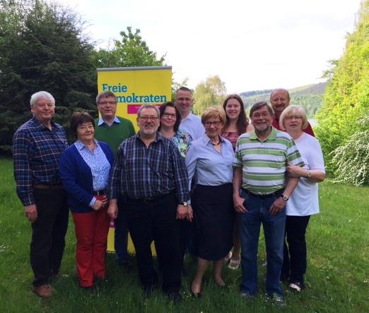 Die FDP-Fraktions bei der Klausurtagung am Wochenen de in . (Foto: privat)