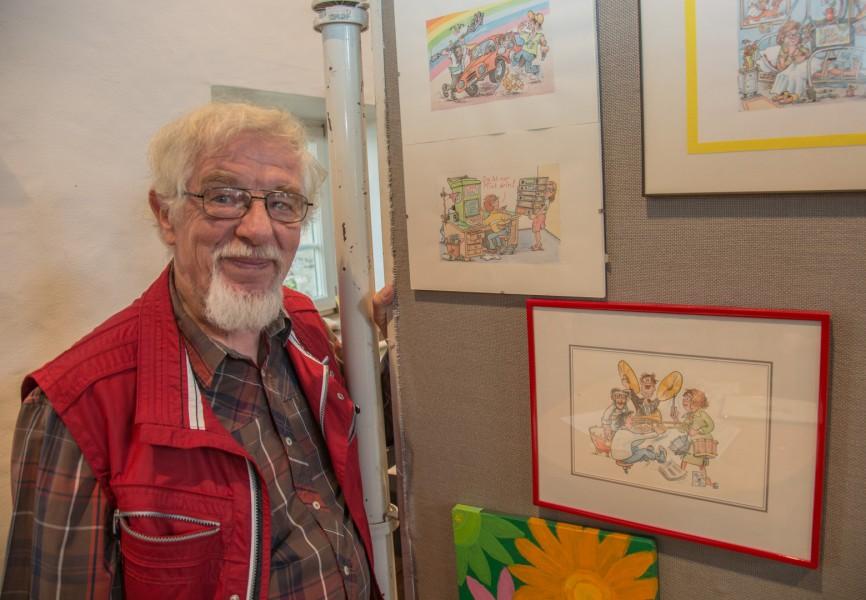 Freut sich auf den Holzwickeder Malermarkt am kommenden Wochenende: Klaus Pfauter, Organisator der Kunstausstellung in der Scheune von Haus Opherdicke. (Foto: P. Gräber - Emscherblog.de)