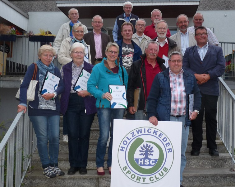 Der HSC ehrte seine langjährigen Mitglieder . (Foto: privat)