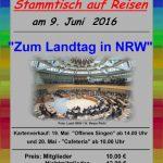 Öffentlicher Stammtisch auf Reisen: Senioren besuchen den NRW-Landtag