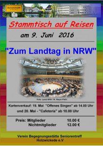 Seniorentreff: Fahrt zum Landtag noch nicht ausgebucht