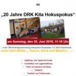 DRK-Kindertageseinrichtung Hokuspokus feiert 20-jähriges Bestehen