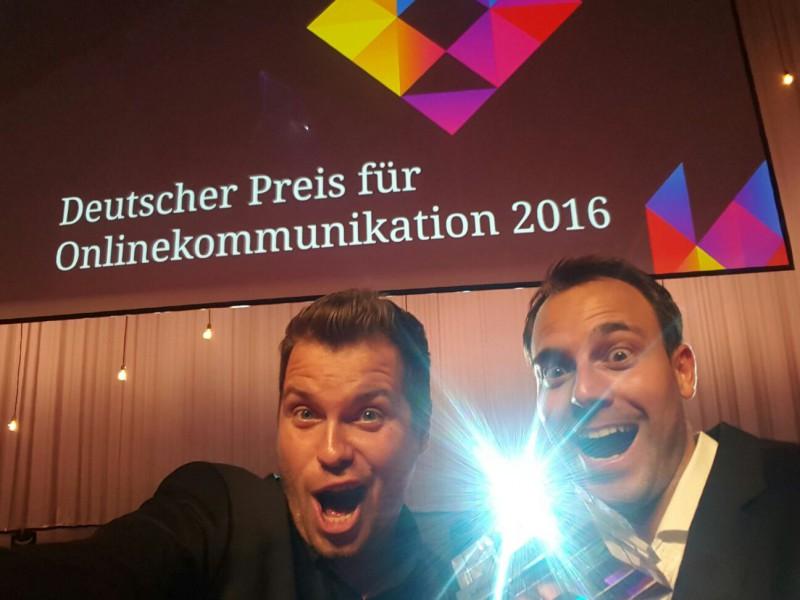 Die beiden Gründer Beide Gründer beeindrucken Jury mit Konzept und Umsetzung – Feierstunde in Berlin