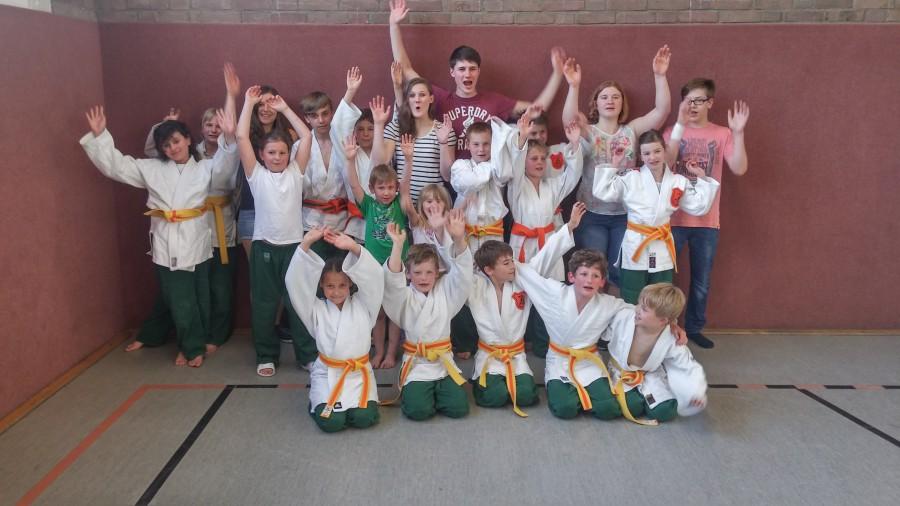 Die U 12-Judokas des JCH verloren ihren Mannschaftskampf gegen den 1. JJJC Dortmund nur knapp. (Foto: privat)