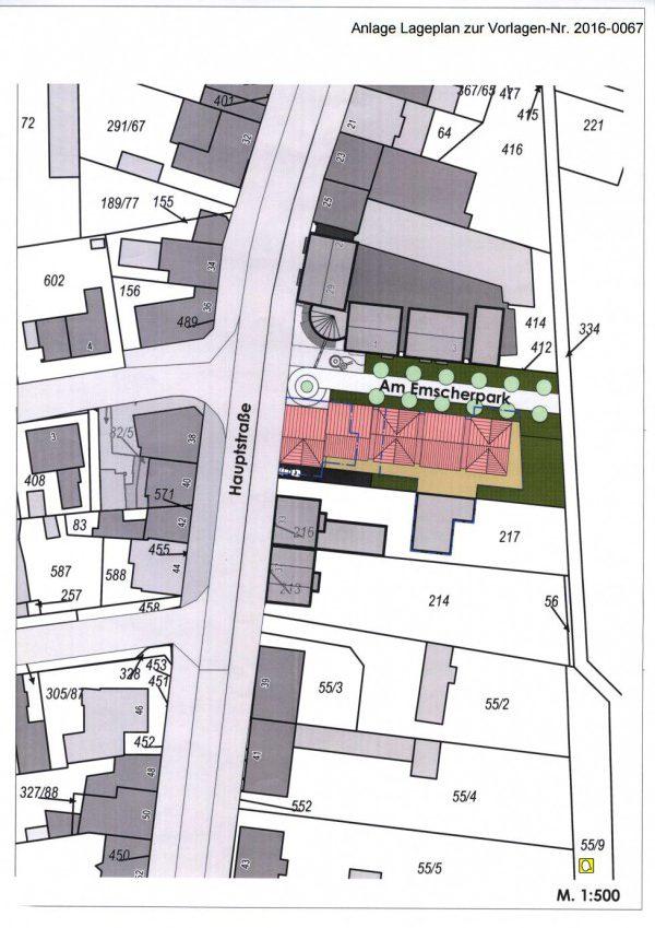 Diese Siizze der Gemeinde zeigt die geplante Bebauung auf dem Grundstück Hauptstraße 31.