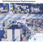 Zufahrt Parkplatz Kleinschwimmhalle: Verkehrsausschuss setzt Ortstermin an
